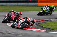 3rd November 2019; Sepang Circuit, Sepang Malaysia; MotoGP Malaysia, Race Day;  Johann Zarco leads Danilo Petrucci during the race - Editorial Use