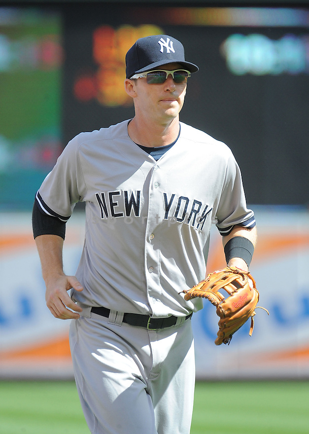 New York Yankees Stephen Drew (33) during a game against the Baltimore Orioles on September 12, 2014 at Orioles Park in Baltimore, MD. The Orioles beat the Yankees 2-1.
