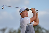 Sungjae Im (KOR) watches his tee shot on 14 during round 3 of the Arnold Palmer Invitational at Bay Hill Golf Club, Bay Hill, Florida. 3/9/2019.<br /> Picture: Golffile | Ken Murray<br /> <br /> <br /> All photo usage must carry mandatory copyright credit (© Golffile | Ken Murray)