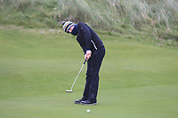Max Kennedy (Royal Dublin) on the 12th green during Round 2 of the Ulster Boys Championship at Portrush Golf Club, Portrush, Co. Antrim on the Valley course on Wednesday 31st Oct 2018.<br /> Picture:  Thos Caffrey / www.golffile.ie<br /> <br /> All photo usage must carry mandatory copyright credit (&copy; Golffile | Thos Caffrey)