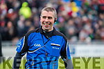 Referee Brendan Griffin before the Kerry County Senior Club Football Championship Final match between East Kerry and Dr. Crokes at Austin Stack Park in Tralee, Kerry.