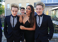 19/05/2015 <br /> Jedward &amp; Nadia Forde <br /> during the Irish mirror pride of Ireland awards at the mansion house, Dublin.<br /> Photo: gareth chaney Collins