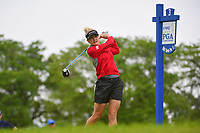 Charley Hull (ENG) watches her tee shot on 3 during the round 2 of the KPMG Women's PGA Championship, Hazeltine National, Chaska, Minnesota, USA. 6/21/2019.<br /> Picture: Golffile | Ken Murray<br /> <br /> <br /> All photo usage must carry mandatory copyright credit (© Golffile | Ken Murray)