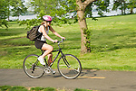 Washington DC; USA: Bicyclist at Belle Haven Park along the George Washington Memorial Parkways near Mount Vernon.Photo copyright Lee Foster Photo # 35-washdc80198