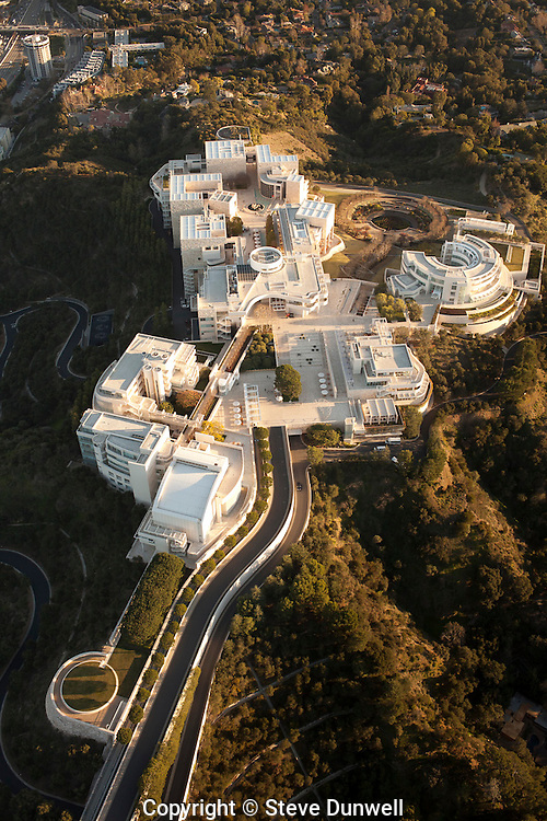 Getty Museum, Los Angeles, CA aerial (Richard Meier = architect)