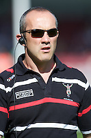 Conor O'Shea, Harlequins Director of Rugby, during the Aviva Premiership match between Harlequins and Sale Sharks at The Twickenham Stoop on Saturday 15th September 2012 (Photo by Rob Munro)