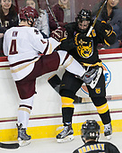 Michael Kim (BC - 4), Sam Rothstein (CC - 9) - The Boston College Eagles defeated the visiting Colorado College Tigers 4-1 on Friday, October 21, 2016, at Kelley Rink in Conte Forum in Chestnut Hill, Massachusetts.The Boston College Eagles defeated the visiting Colorado College Tiger 4-1 on Friday, October 21, 2016, at Kelley Rink in Conte Forum in Chestnut Hill, Massachusett.