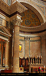 Pantheon Architectural detail Corinthian Pavonazzetto Columns and Pilasters Apse and Altar Campus Martius Rome