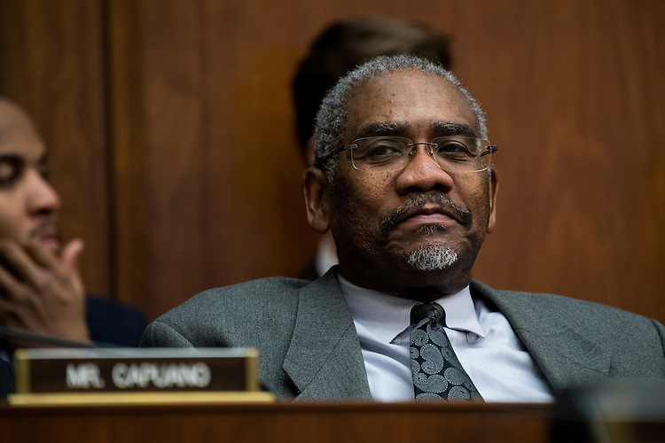 UNITED STATES - FEBRUARY 2: Rep. Gregory Meeks, D-N.Y., participates in the House Financial Services Committee meeting to organize for the 115th Congress on Thursday, Feb. 2, 2017. (Photo By Bill Clark/CQ Roll Call)