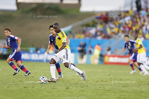 Eder Balanta (COL), JUNE 24, 2014 - Football / Soccer : FIFA World Cup Brazil 2014 Group C match between Japan 1-4 Colombia at the Arena Pantanal in Cuiaba, Brazil. (Photo by AFLO)