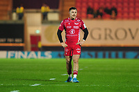 Steff Evans of Scarlets during the European Rugby Challenge Cup Round 1 match between the Scarlets and London Irish at Parc Y Scarlets in Llanelli, Wales, UK. Saturday 16th November 2019