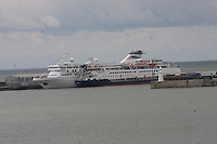 The cruise liner Voyager docked at the Port of Dover, Kent on 24.5.13.