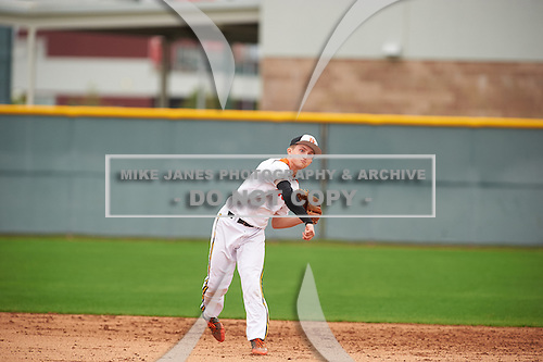 Nate Smolinski (3) of The Bishop's High School in La Jolla, California during the Under Armour All-American Pre-Season Tournament presented by Baseball Factory on January 15, 2017 at Sloan Park in Mesa, Arizona.  (Zac Lucy/Mike Janes Photography)