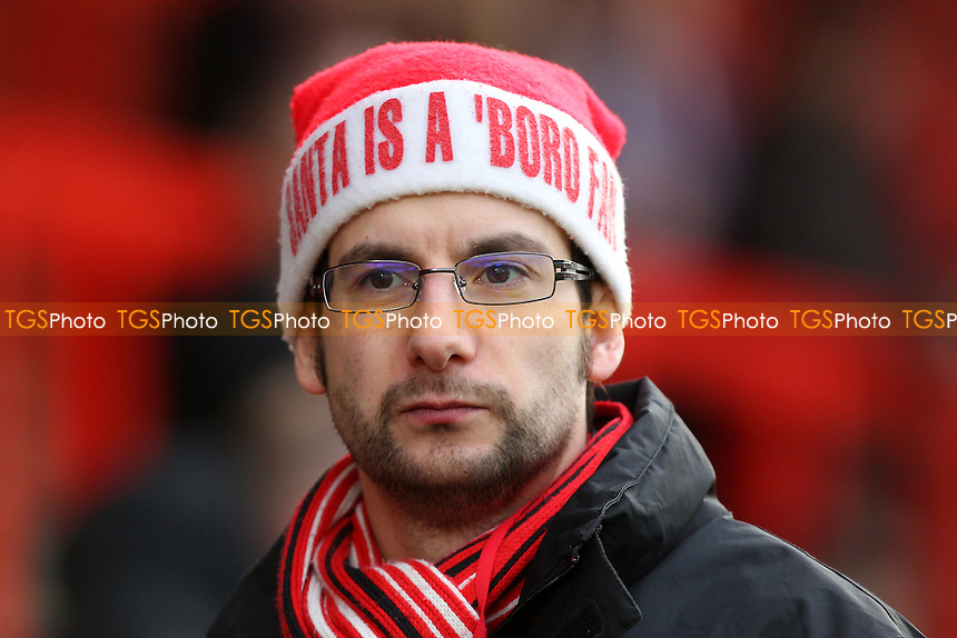 A Stevenage fan in festive attire looks on during Stevenage vs Accrington Stanley, Sky Bet League 2 Football at the Lamex Stadium, Stevenage, England on 19/12/2015