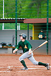DARMSTADT, GERMANY - May 04: Game 2 between Darmstadt Whippets (black) and Mainz Athletics (green) at match day 2 in the Regionalliga Suedwest at Memory Field sports ground on May 04, 2013 in Darmstadt, Germany. Darmstadt won 12-11. (Photo by Dirk Markgraf).