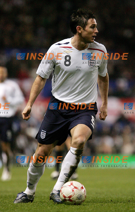 England's Frank Lampard during a friendly match at Old Trafford in Manchester, Wednesday February 07, 2007. (INSIDE/ALTERPHOTOS/Alvaro Hernandez).