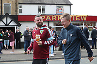 Burnley fans pre match<br /> <br /> Photographer Rachel Holborn/CameraSport<br /> <br /> The Premier League - Burnley v Manchester United - Sunday 23rd April 2017 - Turf Moor - Burnley<br /> <br /> World Copyright &copy; 2017 CameraSport. All rights reserved. 43 Linden Ave. Countesthorpe. Leicester. England. LE8 5PG - Tel: +44 (0) 116 277 4147 - admin@camerasport.com - www.camerasport.com