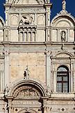 ITALY, Venice. Part of the facede of the Scuola Grande di San Marco located in the Campo Santi Giovanni e Paolo in the Castello district.  Castello is the largest of the six sestieri of Venice.