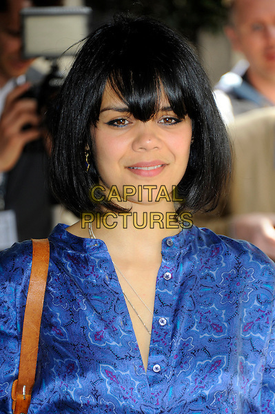 Natasha Khan (Bat For Lashes).58th annual Ivor Novello songwriting and composing awards, Grosvenor House, London, England, UK, 16th May 2013..portrait headshot blue fringe shirt print .CAP/CJ.©Chris Joseph/Capital Pictures.