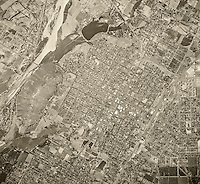 historical aerial photograph Riverside, California, 1948