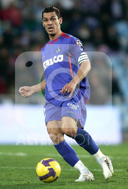 Getafe's Javier Casquero during La Liga match, February 08, 2009. (ALTERPHOTOS).