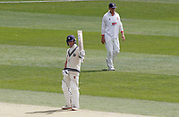 Jordan Cox of Kent celebrates scoring fifty runs during Kent CCC vs Essex CCC, Friendly Match Cricket at The Spitfire Ground on 27th July 2020
