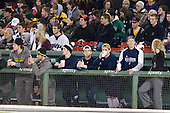 ?, Chris McCarthy (Vermont - 3), Kyle Beattie, Ryan Hegarty, Klas Leidermark, Nick Pryor, Laura Reed - The University of Massachusetts (Amherst) Minutemen defeated the University of Vermont Catamounts 3-2 in overtime on Saturday, January 7, 2012, at Fenway Park in Boston, Massachusetts.