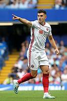 John Egan of Sheffield United during Chelsea vs Sheffield United, Premier League Football at Stamford Bridge on 31st August 2019