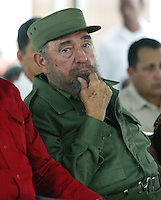 Cuban President, Fidel Castro at the Havana International Book Fair in Havana, Cuba on March 2, 2006. Credit: Jorge Rey/MediaPunch