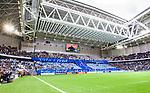 Stockholm 2014-04-06 Fotboll Allsvenskan Djurg&aring;rdens IF - Halmstads BK :  <br /> Djurg&aring;rdens supportrar med banderoller och ett tifo innan matchen som en hyllning till den Djurg&aring;rdssupporter som avled i samband med den allsvenska premi&auml;ren i Helsingborg<br /> (Foto: Kenta J&ouml;nsson) Nyckelord:  Djurg&aring;rden DIF Tele2 Arena Halmstad HBK supporter fans publik supporters tifo hyllning Stefan Isaksson Myggan