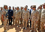 A handout picture released by the military moral affairs shows the Egypt's army chief, Field Marshal Abdel Fattah al-Sisi, inspects the unit of rapid deployment forces in the Egyptian army, in Cairo on March 25, 2014. apaimages/Military Moral Affairs