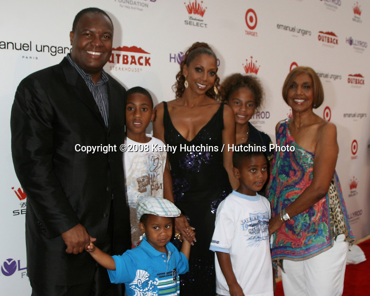 Holly Robinson Peete & Rodney Peete and their children, and Holly's mother Delores  arriving at the 10th Annual Designcare Fundraiser benefiting the HollyRod Foundation at a private residence in Malibu, CA on.July 19, 2008.©2008 Kathy Hutchins / Hutchins Photo .