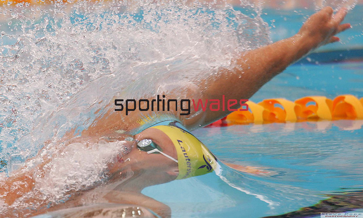 Australian swimmer Andrew Lauterstein  competing in the Men's 100m Backstroke..Commonwealth Games Swimming.Melbourne Aquatics Centre.Melbourne.19.03.06.©Steve Pope.Steve Pope Photography.The Manor .Coldra Woods.Newport.South Wales.NP18 1HQ.07798 830089.01633 410450.steve@sportingwales.com.
