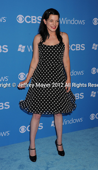 WEST HOLLYWOOD, CA - SEPTEMBER 18: Pauley Perrette arrives at the CBS 2012 fall premiere party at Greystone Manor Supperclub on September 18, 2012 in West Hollywood, California.