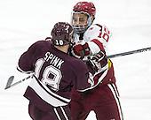 Tylor Spink (Colgate - 18), Brayden Jaw (Harvard - 10) -  - The Harvard University Crimson defeated the visiting Colgate University Raiders 7-4 (EN) on Saturday, February 20, 2016, at Bright-Landry Hockey Center in Boston, Massachusetts.
