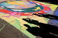 Chalk artists create temporary masterpieces during the Wells Fargo Community Celebration, held October 29, 2011 in downtown Charlotte NC. The daylong festival took place in the streets, in public atriums and in downtown museums, which offered free admission all day long. Wells Fargo, which this month completed its conversion from Wachovia, picked up the bill.