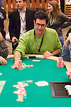David Kahn is all in and reacts to being knocked out.  Kahn knocked out the WPT Poker magazine's Nick Wright on Day 1.