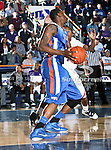 Texas-Arlington Mavericks forward Brandon Edwards (35) in action during the game between the Stephen F. Austin Lumberjacks and the UTA Mavericks held at the University of Texas at Arlington's, Texas Hall, in Arlington, Texas.  UTA defeats Stephen F. Austin  66 to 65 in overtime.
