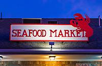 Seafood Market, Wellfleet, Cape Cod, Massachusetts, USA.
