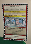 """The Great Heist poster - at the table: A Special Talent Reading of the new novel """"The Great Heist"""" by author and filmmaker Kenneth Del Vecchio on November 3, 2008 at the Williams Center, Rutherford, New Jersey. The event is presented by Justice For All Productiona and the Hoboken International Film Mestival and osted by Bergen County Film Commission.   (Photo by Sue Coflin/Max Photos)"""