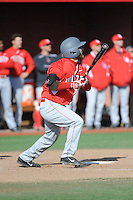 University of Houston Cougars outfielder Michael Pyeatt (2) during game game 2 of a double header against the Rutgers Scarlet Knights at Bainton Field on April 5, 2014 in Piscataway, New Jersey. Houston defeated Rutgers 9-1.      <br />  (Tomasso DeRosa/ Four Seam Images)