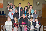 Pupils from Ballyduff C.N.S who were confirmed on Monday in St Pater and Pauls Church, Ballyduff by the Bishop of Kerry Bill Murphy also with the pupils were the Principle Pat Walsh and Fr Brendan Walsh. pupils were: Ian Lawlor, Sean Griffin, Kyle Layden, Brendan Gorman, Darragh Daly, Kevin Ross, Sean Browne, Jane Dalton, Helen Dowling, Michelle Daly, Danielle Robinson, Megan O'Connor and Sarah Casey..
