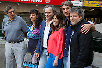 Productor Gerardo Herrero, Mariela Besuievsky, Jose Coronado, Mercedes Moran, Alberto Ammann and director Miguel Cohan present the film 'Betibu' at Cinema Princesa in Madrid. September 09, 2014. (ALTERPHOTOS / Nacho Lopez)
