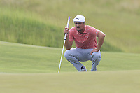 Bryson DeChambeau (USA) at the 3rd green during Friday's Round 2 of the 117th U.S. Open Championship 2017 held at Erin Hills, Erin, Wisconsin, USA. 16th June 2017.<br /> Picture: Eoin Clarke | Golffile<br /> <br /> <br /> All photos usage must carry mandatory copyright credit (&copy; Golffile | Eoin Clarke)