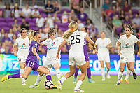 Orlando, FL - Saturday July 15, 2017: Rachel Hill, Becca Moros during a regular season National Women's Soccer League (NWSL) match between the Orlando Pride and FC Kansas City at Orlando City Stadium.