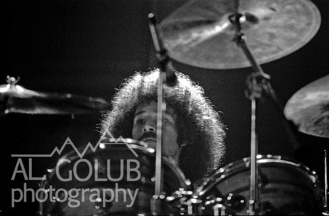 Chris Herold<br /> Modesto, California—Some time in early 1976, Fleetwood Mac Kingfish and an unknown at this time other groups played For Jerry Schweitzer at the Olympic Gold Ice Arena. Fleetwood Mac performers were Mick Fleetwood (drums) Stevie Nicks (vocals), John McVie (bass)  Christine McVie (keyboard) and Lindsey Buckingham (lead Guitar) Kingfish  Dave Torbert (Bass), Matthew Kelly, Bob Weir, Rob Hoddinott, Chris Herold (Drummer)  Photo by Al Golub/Golub Photography