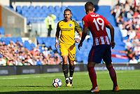 Liam Rosenior of Brighton & Hove Albion (23)  In action during the pre season friendly match between Brighton and Hove Albion and Atletico Madrid at the American Express Community Stadium, Brighton and Hove, England on 6 August 2017. Photo by Edward Thomas / PRiME Media Images.