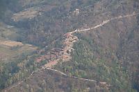 A destroyed village near at Sindhupalchok, outsude of Kathmandu, Nepal. May 1, 2015