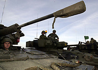 Pictured: A tank during an exercise at Castlemartin Range. STOCK PICTURE<br /> Re: A soldier has been killed and three others injured after an incident involving a tank at a Ministry of Defence base in Pembrokeshire.<br /> The soldier, from the Royal Tank Regiment, died in the incident at Castlemartin Range.<br /> Two people were taken to Morriston Hospital in Swansea, while another casualty remains in Cardiff's University Hospital of Wales.<br /> An investigation is under way.<br /> Live firing was scheduled to take place at the range between Monday and Friday.<br /> In May 2012, Ranger Michael Maguire died during a live firing exercise at the training base. An inquest later found he was unlawfully killed.