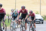 Quentin Pacher (FRA) Vital Concept-B&B Hotels, Elie Gesbert (FRA) Team Arkea-Samsic, Pavel Sivakov (RUS) and Ivan Ramiro Sosa Cuervo (COL) Team Ineos on the first pass of the final climb during Stage 1 of the Route d'Occitanie 2019, running 175.5km from Gignac-Vallée de l'Hérault to Saint-Geniez-d'Olt-et-d'Aubrac , France. 20th June 2019<br /> Picture: Colin Flockton | Cyclefile<br /> All photos usage must carry mandatory copyright credit (© Cyclefile | Colin Flockton)
